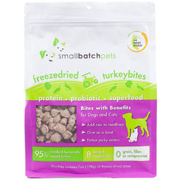 37% OFF: Smallbatch Freeze Dried Turkey Bites Cat & Dog Treats 7oz