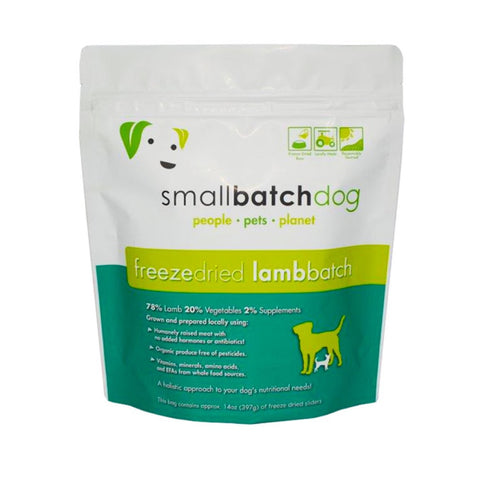 'UP TO 40% OFF': Smallbatch Lamb Batch Sliders Freeze Dried Dog Food 14oz