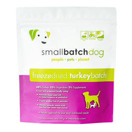 30% OFF: Smallbatch Turkey Batch Sliders Freeze Dried Dog Food 14oz
