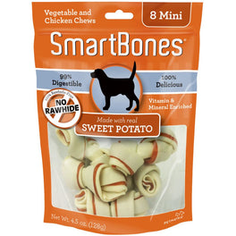 SmartBones Rawhide-Free Sweet Potato Mini Dog Chews 8 pc