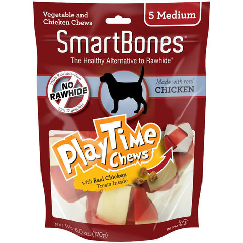 SmartBones PlayTime Chicken Dog Chews - Kohepets
