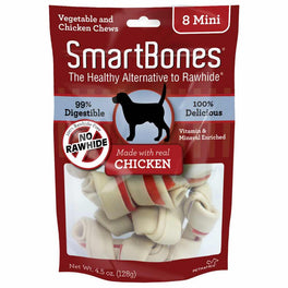SmartBones Rawhide-free Chicken Mini Dog Chews 8pc