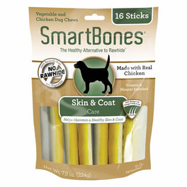 SmartBones SmartSticks Skin & Coat Care Dog Chews 16pc