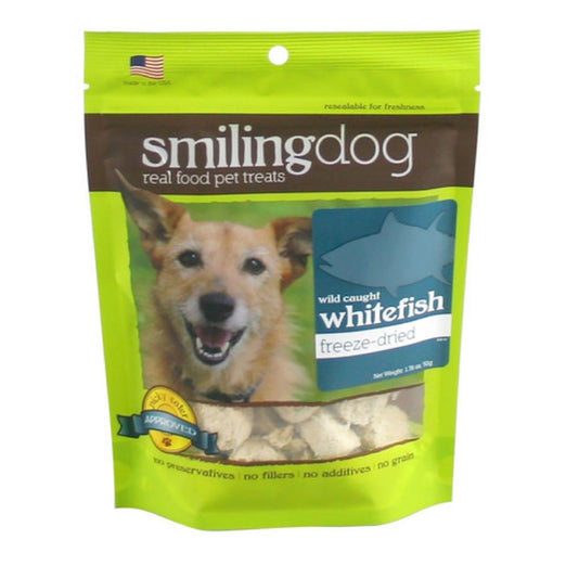 Smiling Dog Wild-Caught Whitefish Freeze-Dried Dog Treats 50g