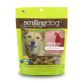 Smiling Dog Chicken with Flax & Peas Grain-Free Soft & Chewy Dog Treats 227g