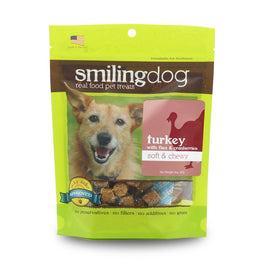 Smiling Dog Turkey with Flax & Cranberries Grain-Free Soft & Chewy Dog Treats 227g