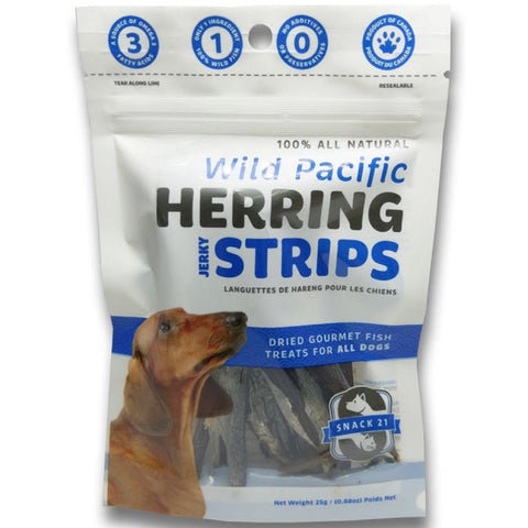 Snack 21 Wild Pacific Herring Jerky Strips Dog Treats 25g