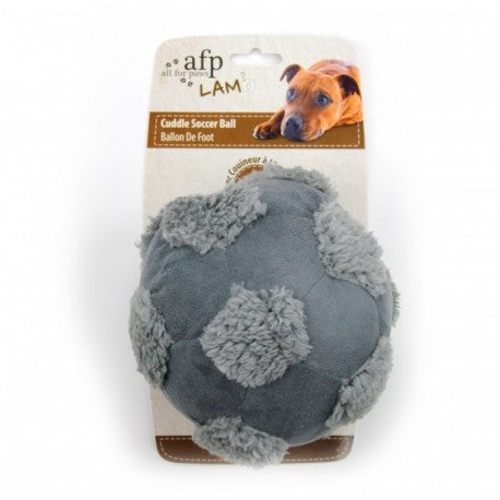 All For Paws Lamb Cuddle Soccer Ball Dog Toy