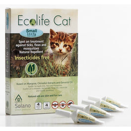UP TO 20% OFF: Solano Ecolife Spot-On Cat Flea Control Solution for Cats 0.8 - 4kg 4ct