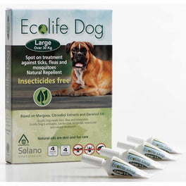UP TO 20% OFF: Solano Ecolife Spot-On Dog Flea Control Solution for Dogs over 30kg 4ct