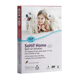 UP TO 20% OFF: Solano Soltif Home All in One Spot-On Solution for Puppies 1.5 - 7kg 4ct