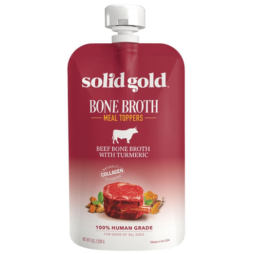 Solid Gold Beef Bone Broth With Turmeric Meal Topper For Dogs 8oz - Kohepets