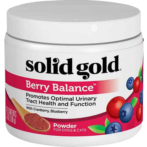 Solid Gold Berry Balance Grain-free Supplement Powder for Cats & Dogs 3.5oz - Kohepets