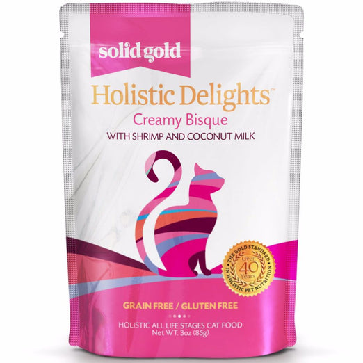 Solid Gold Holistic Delights Creamy Bisque With Shrimp & Coconut Milk Pouch Cat Food 85g - Kohepets