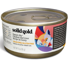 Solid Gold Dawn's Sky Chicken & Liver in Gravy Canned Cat Food 85g