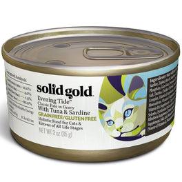 Solid Gold Evening Tide Classic Paté Tuna & Sardine in Gravy Canned Cat Food 85g
