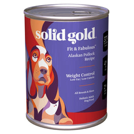 Solid Gold Fit & Fabulous Alaskan Pollock Weight Control Canned Dog Food 374g