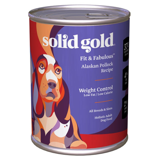 Solid Gold Fit & Fabulous Alaskan Pollock Weight Control Canned Dog Food 374g - Kohepets