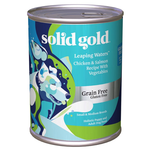 Solid Gold Leaping Waters Chicken, Salmon & Vegetables Canned Dog Food 374g - Kohepets