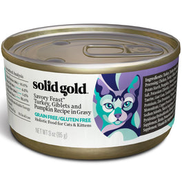 Solid Gold Savory Feast Turkey, Giblets & Pumpkin in Gravy Canned Cat Food 85g