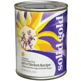 Solid Gold Sun Dancer High Protein Chicken Recipe Canned Dog Food 374g