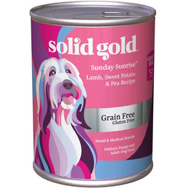 Solid Gold Sunday Sunrise Lamb, Sweet Potato & Pea Grain Free Canned Dog Food 374g