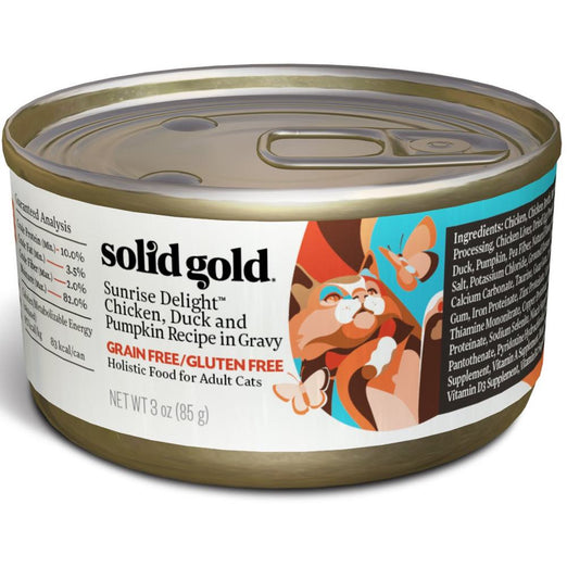 Solid Gold Sunrise Delight Chicken, Duck & Pumpkin in Gravy Canned Cat Food 85g