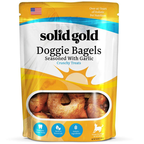 Solid Gold Doggie Bagels Dog Biscuit Treats 0.9lb - Kohepets