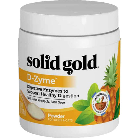 Solid Gold D-Zyme Grain-free Nutritional Supplement Powder for Dogs & Cats 6oz
