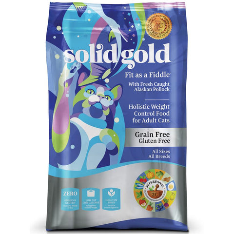 Solid Gold Fit as a Fiddle Weight Control Grain & Gluten Free Dry Cat Food - Kohepets