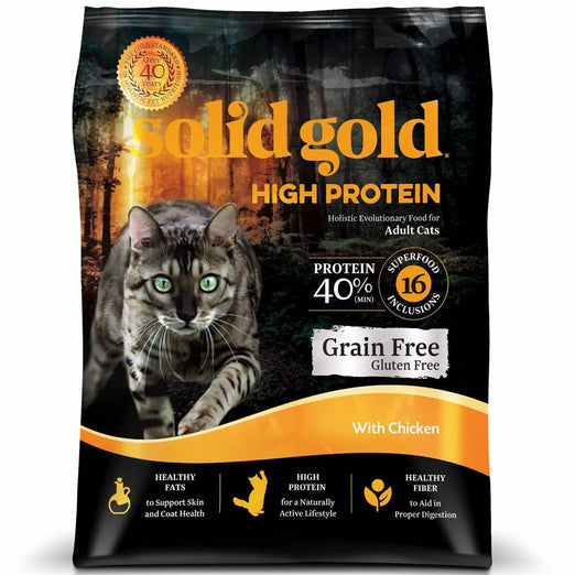 Solid Gold High Protein With Chicken Grain & Gluten Free Dry Cat Food - Kohepets