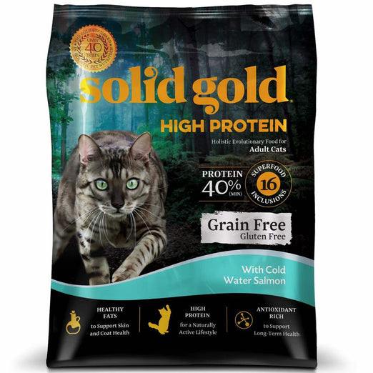 Solid Gold High Protein With Salmon Grain & Gluten Free Dry Cat Food - Kohepets