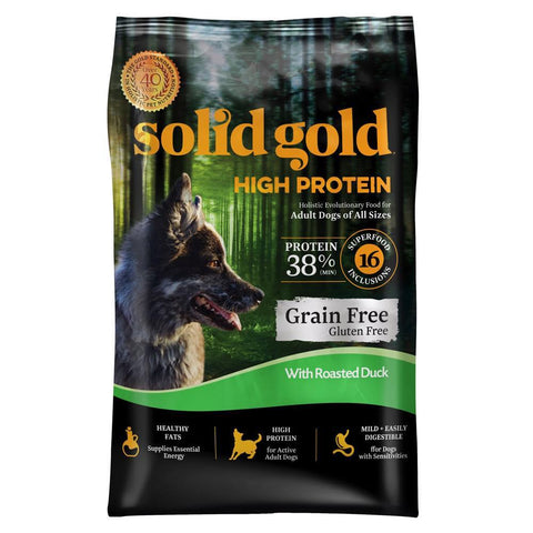 Solid Gold High Protein With Duck Grain & Gluten Free Dry Dog Food - Kohepets