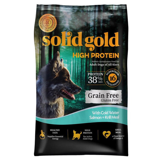 Solid Gold High Protein With Salmon Grain & Gluten Free Dry Dog Food - Kohepets