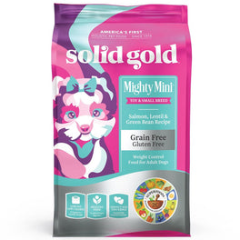 Solid Gold Mighty Mini Salmon, Lentil & Green Bean Grain-Free Weight Control Dry Dog Food 4lb