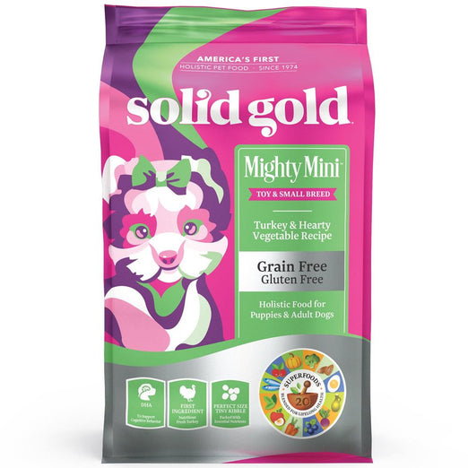 20% OFF (Exp 27 Mar): Solid Gold Mighty Mini Turkey & Hearty Vegetable Grain-Free Dry Dog Food 4lb - Kohepets