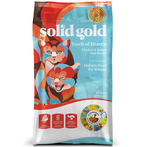 Solid Gold Touch of Heaven Chicken & Brown Rice Kitten Formula Dry Cat Food - Kohepets