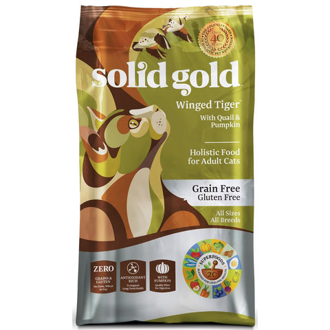 Solid Gold Winged Tiger Grain & Gluten Free Dry Cat Food - Kohepets