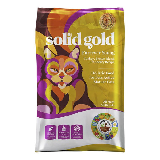 Solid Gold Furrever Young Senior Formula Dry Cat Food - Kohepets