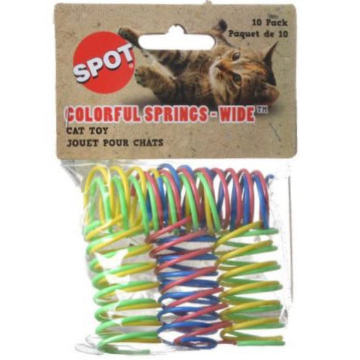 Ethical Pet Spot Colorful Springs Wide Cat Toy 10ct