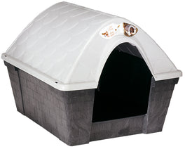 Stefanplast Happy Kennel in Deep Grey