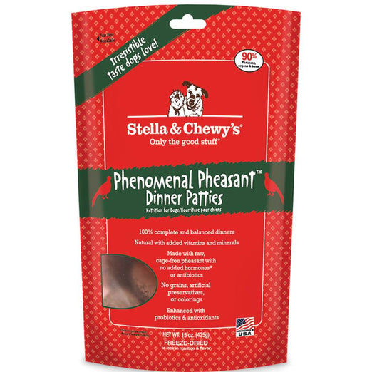 Stella & Chewy's Phenomenal Pheasant Dinner Patties Freeze-Dried Dog Food - Kohepets