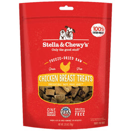 2 FOR $25: Stella & Chewy's Chicken Breast Single Ingredient Freeze-Dried Dog Treats 2.5oz