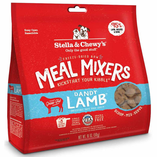 Stella & Chewy's Dandy Lamb Meal Mixers Freeze-Dried Dog Food 18oz
