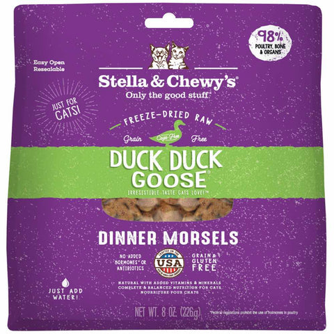 Stella & Chewy's Duck Duck Goose Dinner Morsels Freeze-Dried Cat Food - Kohepets