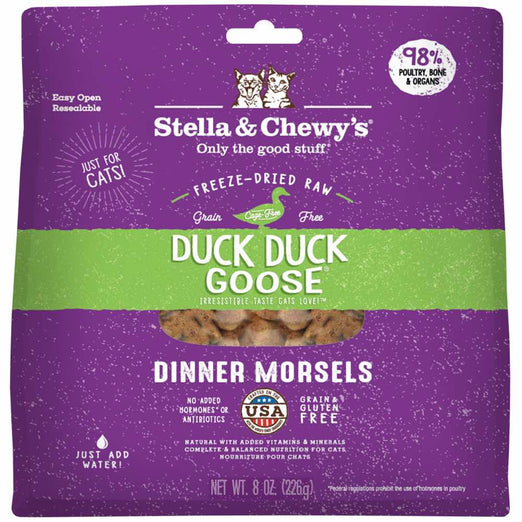 Stella & Chewy's Duck Duck Goose Dinner Morsels Freeze-Dried Cat Food