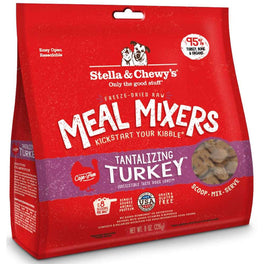 10% OFF 8oz: Stella & Chewy's Tantalizing Turkey Meal Mixers Freeze-Dried Dog Food (Exp 19 May 19)