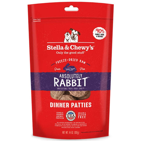 'BUNDLE DEAL': Stella & Chewy's Absolutely Rabbit Dinner Patties Freeze-Dried Dog Food