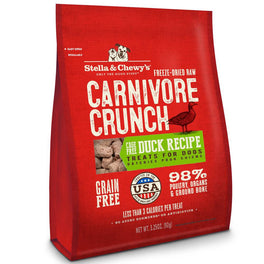 'BUNDLE DEAL': Stella & Chewy's Carnivore Crunch Duck Freeze-Dried Dog Treats 3.25oz
