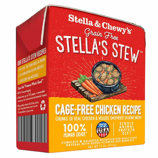 Stella & Chewy's Stella's Stew Cage-Free Chicken Recipe Dog Food 11oz